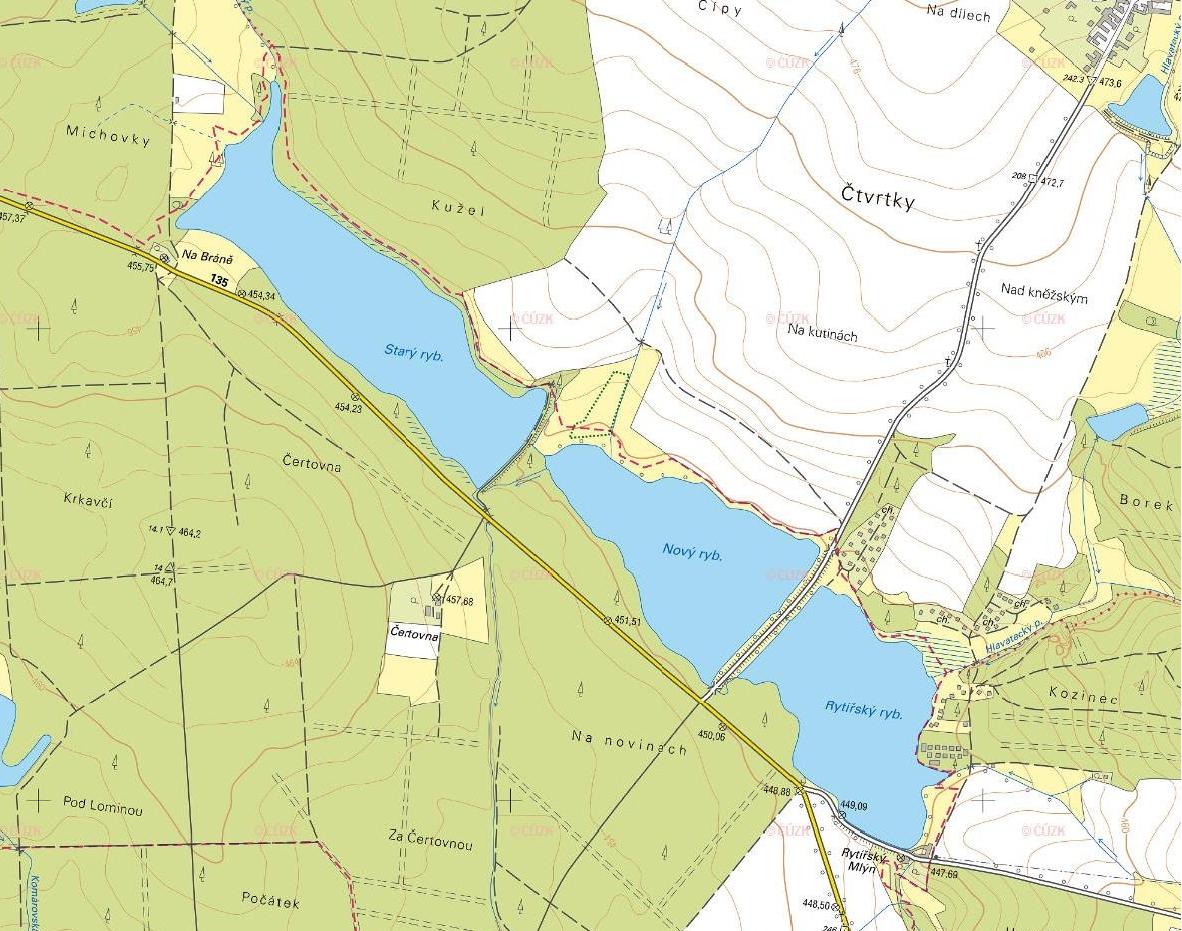 Mapa rybníků